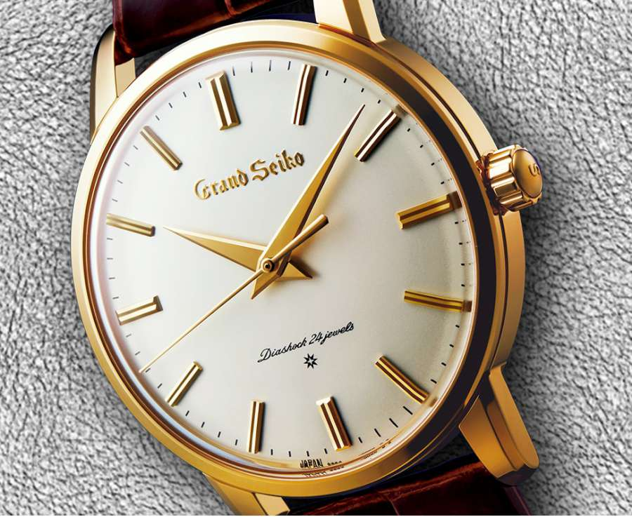The first Grand Seiko, re-created in yellow gold SBGW252