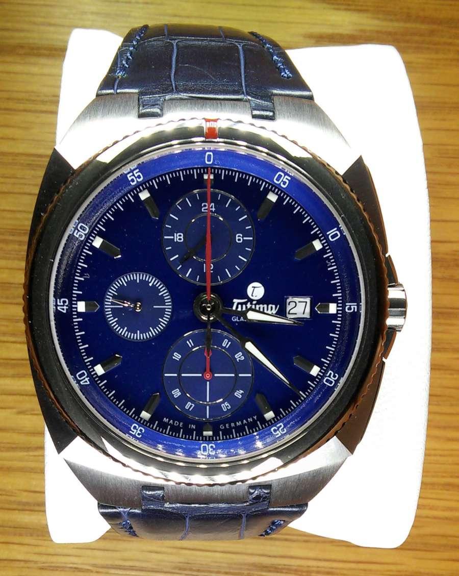 Tutima Glashütte Saxon One Chronograph Royal Blue 6420-05