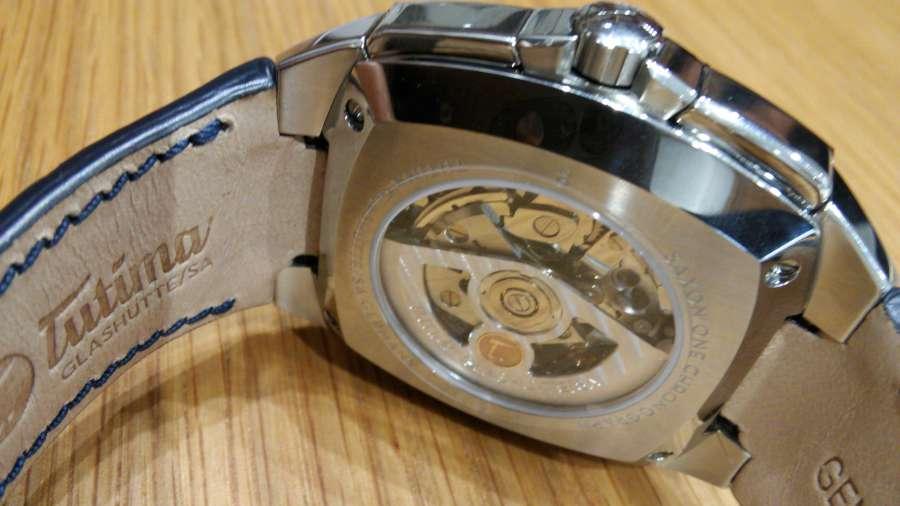 Tutima Glashütte Saxon One Chronograph Royal Blue 6420-05 caseback