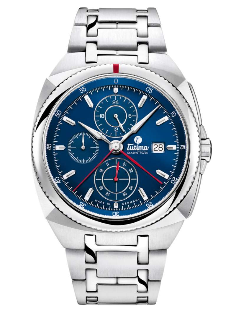 Tutima Glashütte Saxon One Chronograph Royal Blue 6420-05