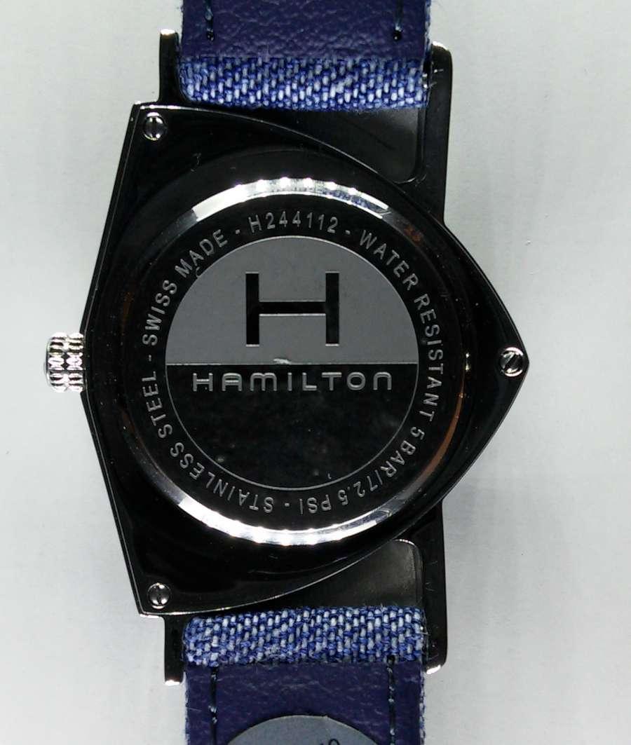 Hamilton Ventura Jeans caseback