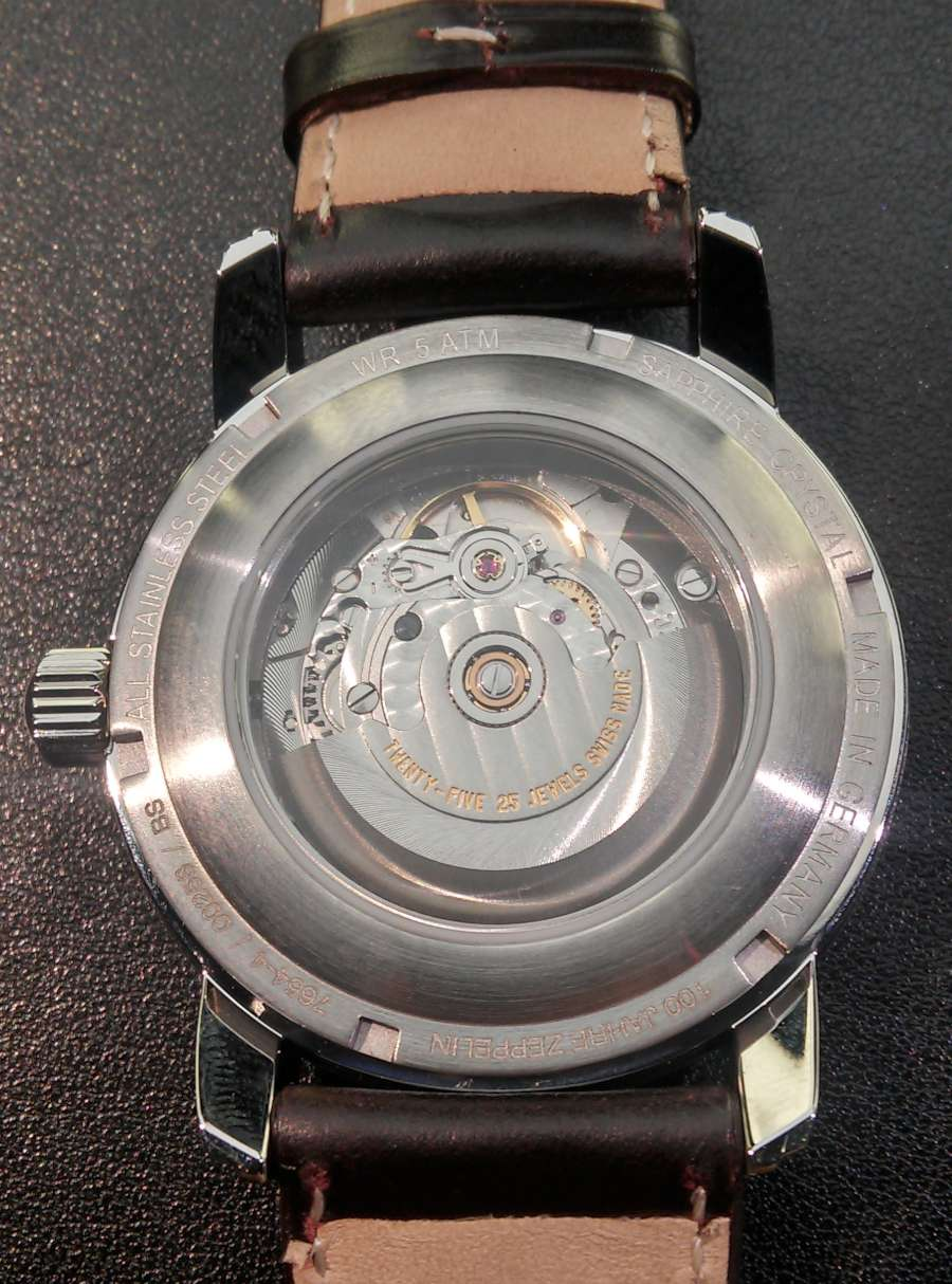 Zeppelin Automatic Pulsometer with Big Date caseback