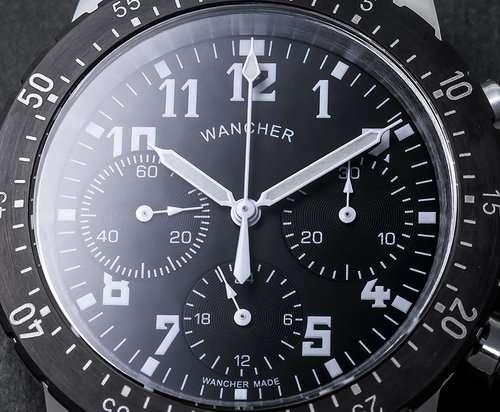 Wancher Storm Jet Chronograph dial detail