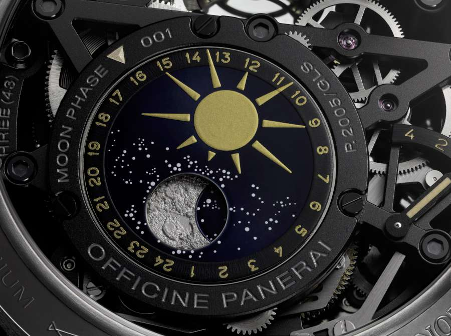 Panerai L'Astronomo Luminor 1950 Tourbillon Moon Phases Equation of Time GMT PAM00920