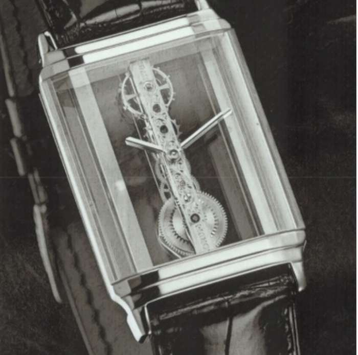 The original Corum Golden Bridge with movement designed by Vincent Calabrese