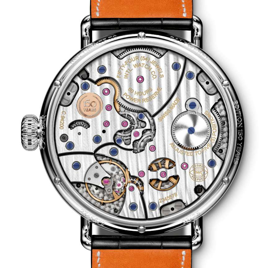 IWC Tribute to Pallweber Edition 150 Years, reference 505001, caseback