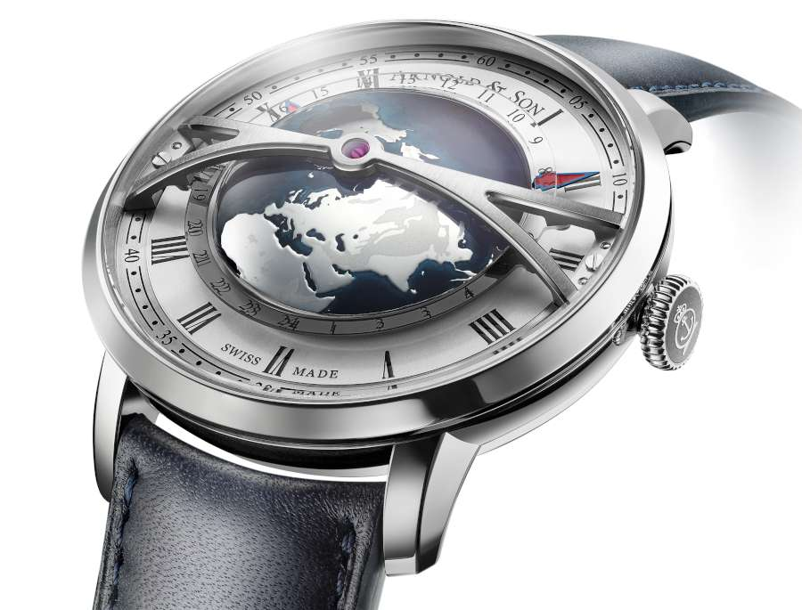 Arnold & Son Globetrotter world timer watch