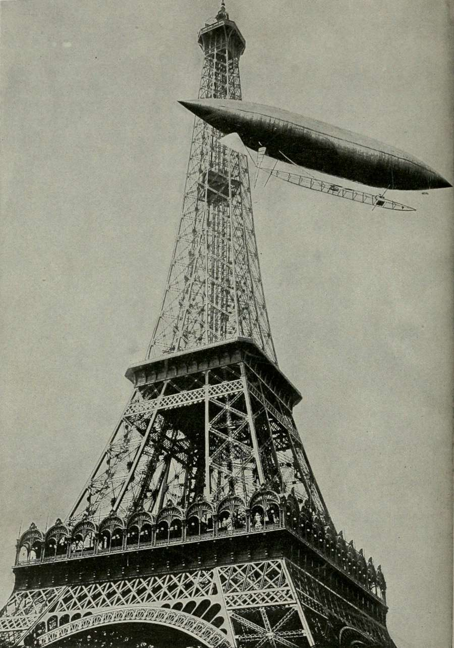 Alberto Santos dirigible no. 5 Eiffel Tower