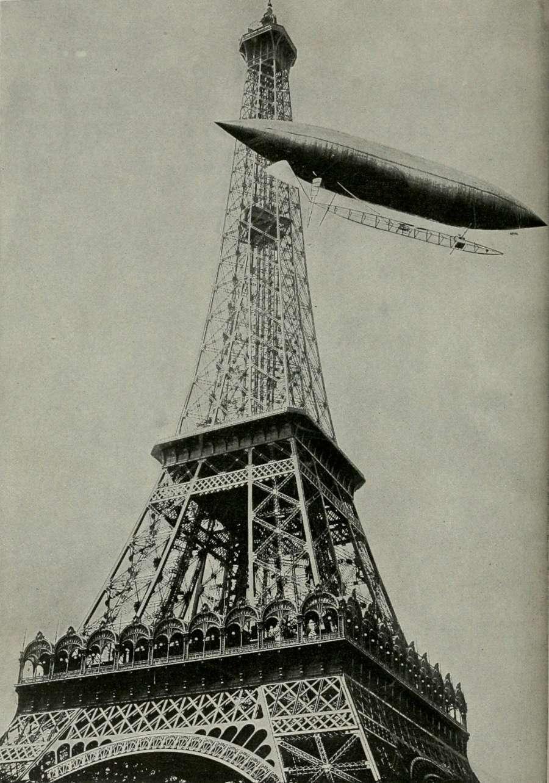 Alberto Santos dirigible no. 5 Eiffel Tower