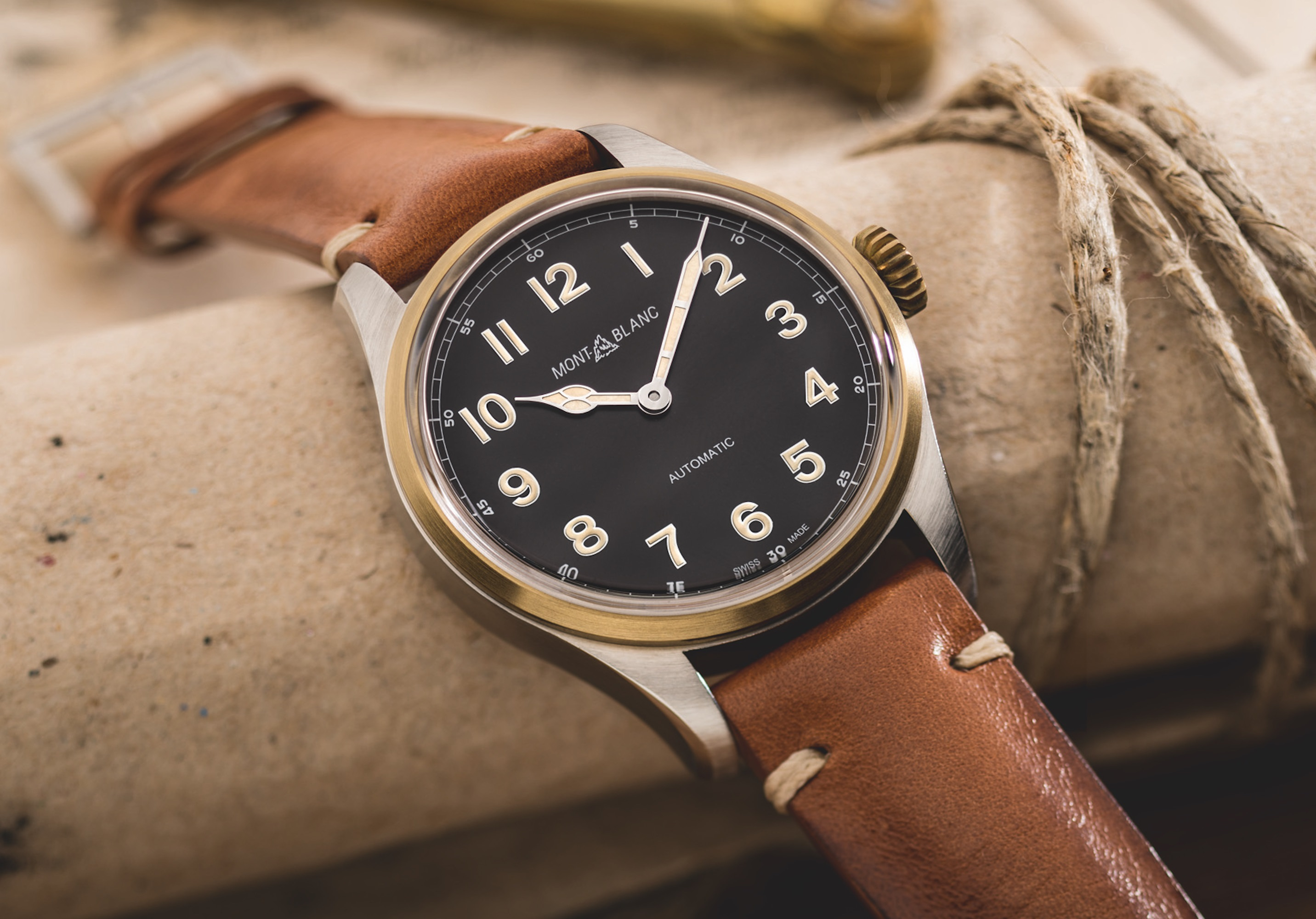 Montblanc 1858 Automatic 117833-3 vintage style watch