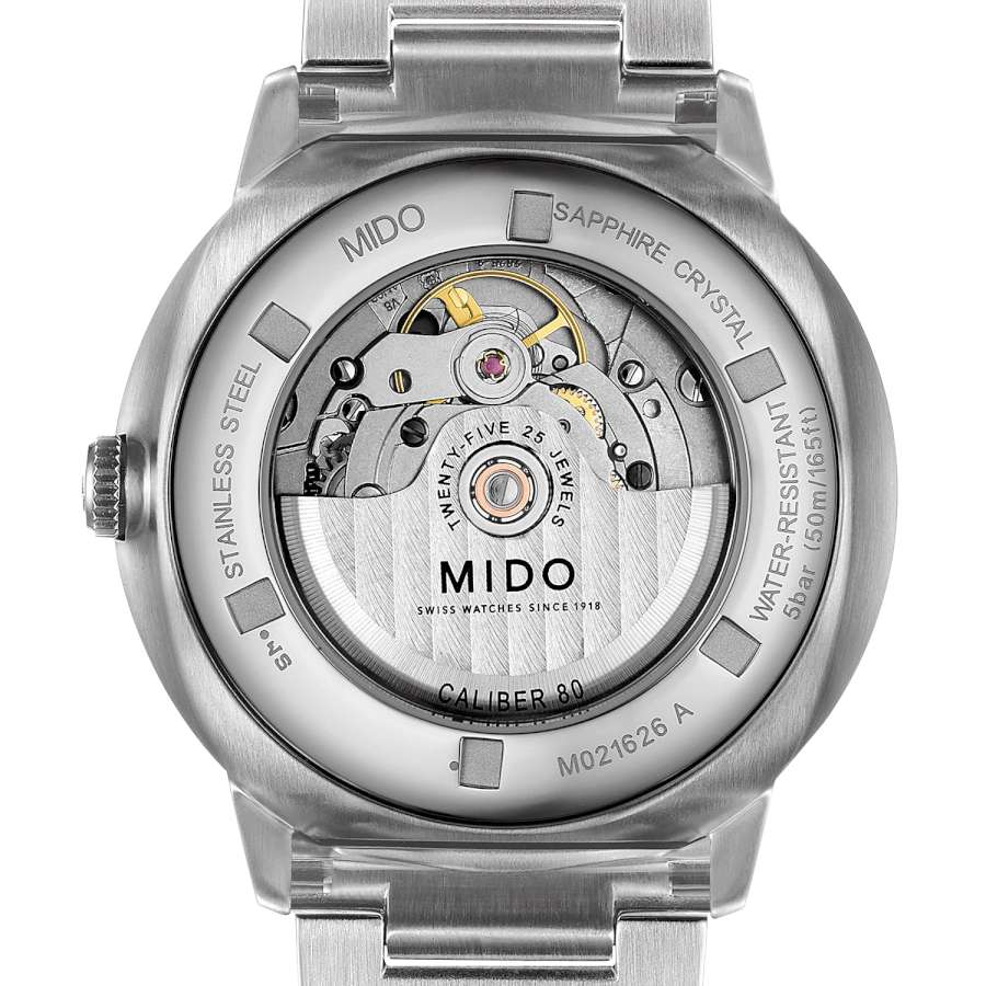 Mido Commander Big Date caseback
