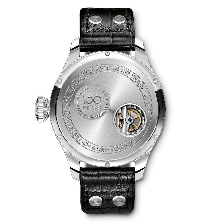 IWC Schaffhausen Big Pilot's Watch Big Date Edition 150 Years caseback