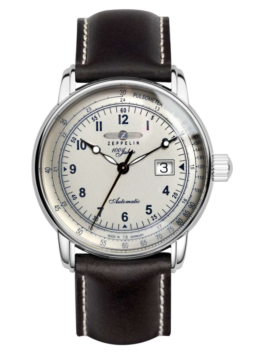 Zeppelin Automatic Pulsometer with Big Date