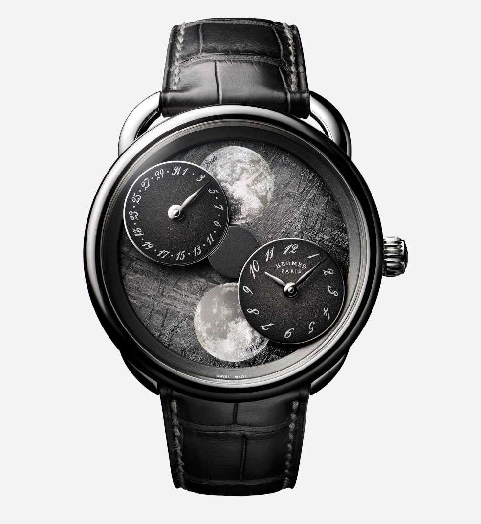 Hermès Arceau L'Heure de la Lune, meteorite dial