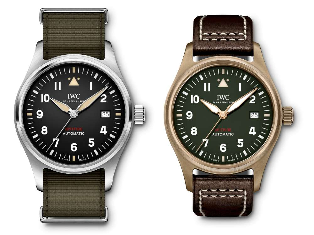IW326801 IW326802 Pilot's Watch Automatic Spitfire two versions