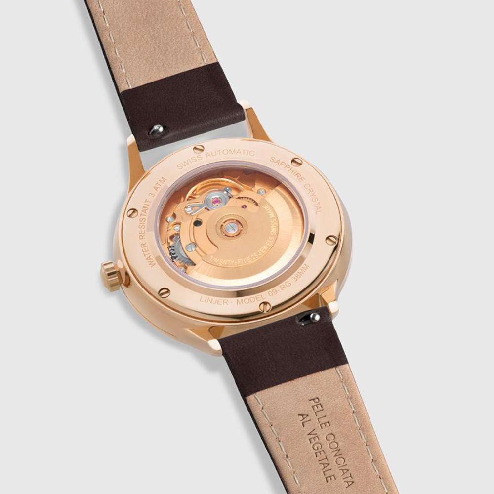 Linjer Automatic rose gold caseback