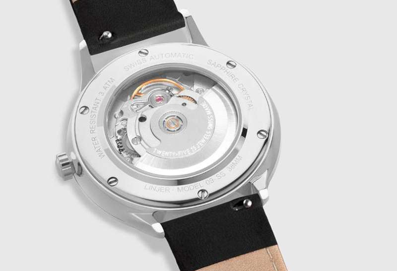 Linjer Automatic bright steel caseback