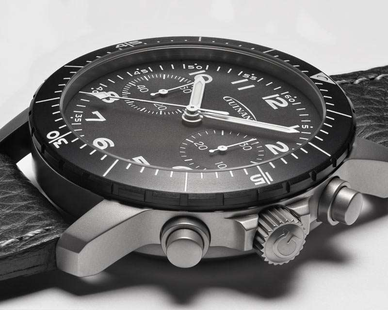 Guinand Starfighter Pilot Chronograph case and pushers