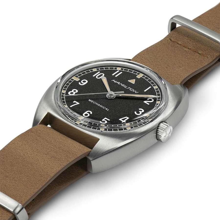 Hamilton Pilot Pioneer leather strap