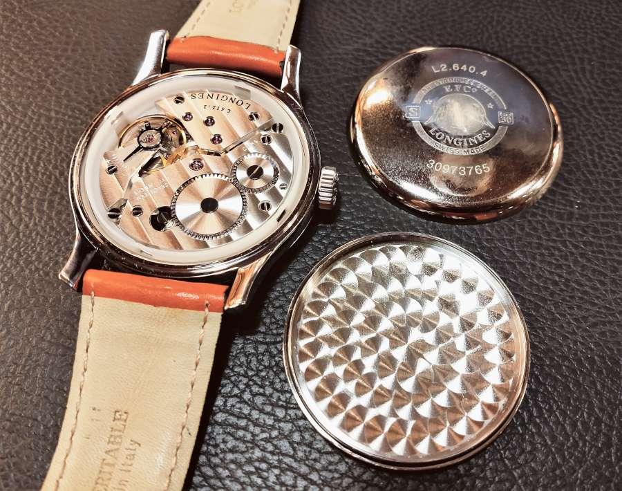 Longines Avigation L2.640.4 pilot's watch double caseback