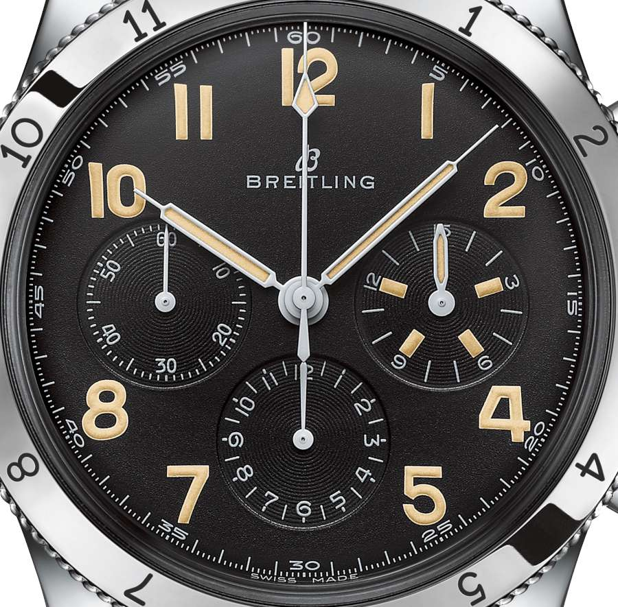 Breitling AVI Ref 765 1953 Re-Edition dial detail