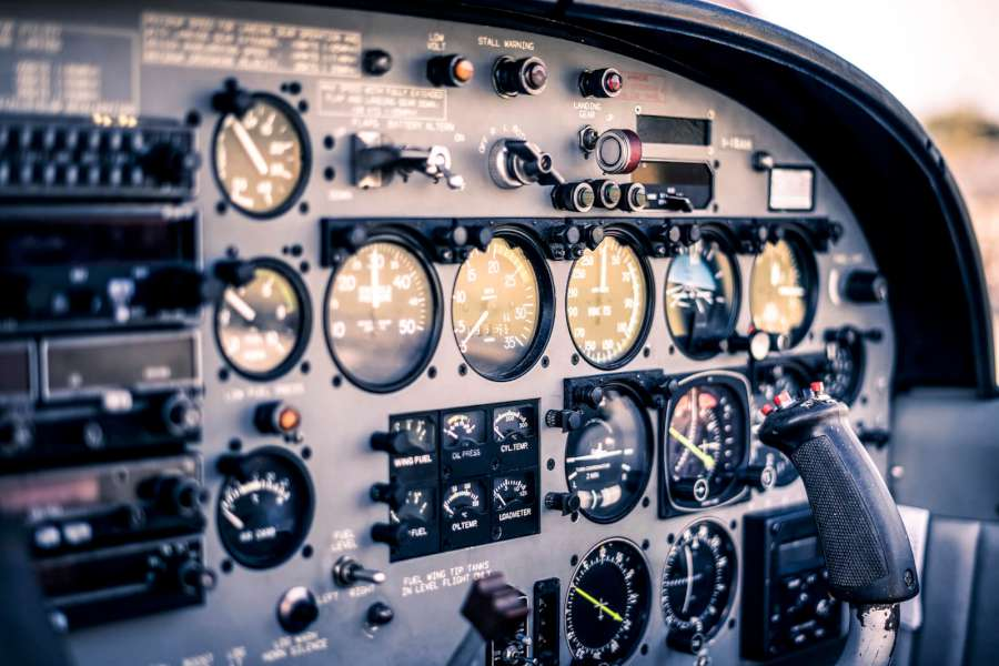 Instrument panel of the Italy SF-260 EA