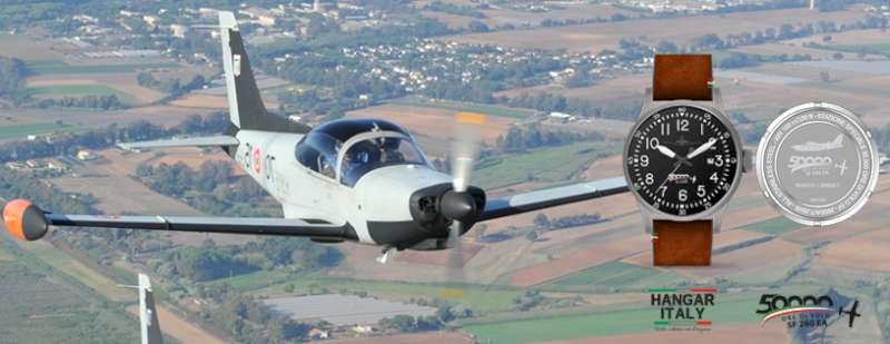 Hangar Italy SF-260 EA aircraft and watch