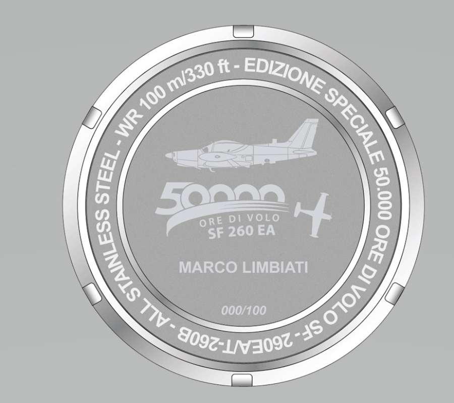 Hangar Italy SF-260 EA pilots watch caseback