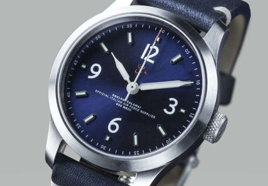 Orologi Calamai MKIII Blue Pilot's Watch