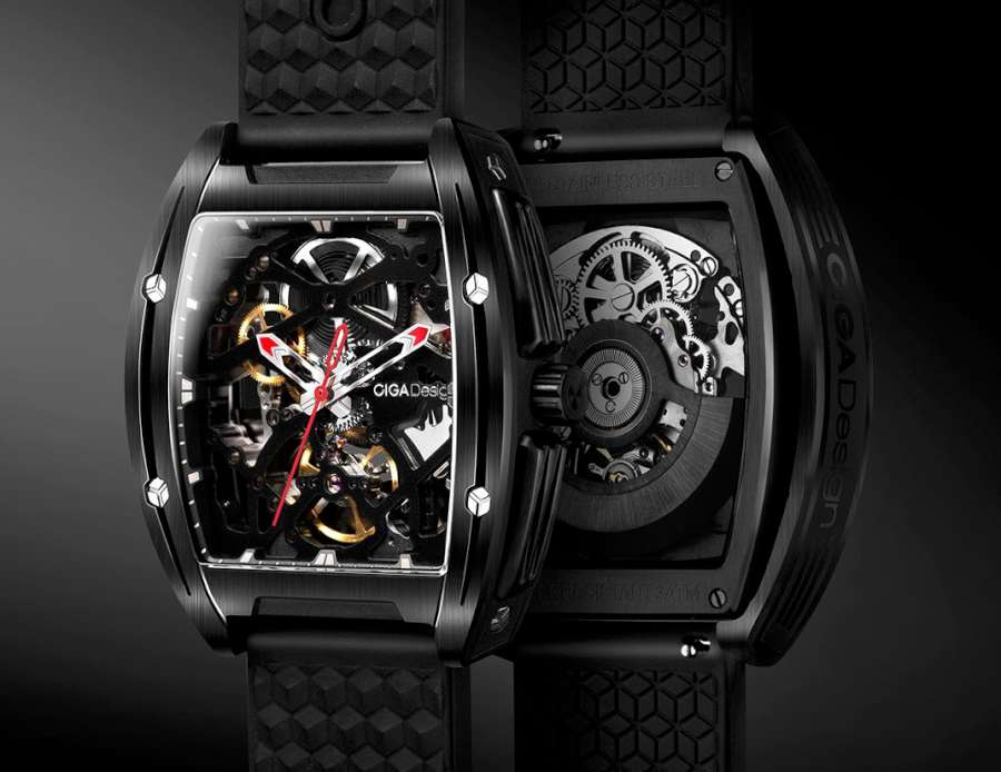 CIGA Design Z Series Automatic Mechanical Skeleton Wristwatch