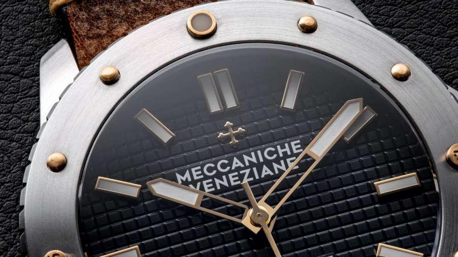 Meccaniche Veneziane Arsenale dial detail