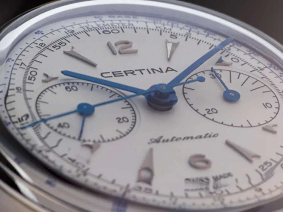 Certina DS Chronograph Automatic dial detail