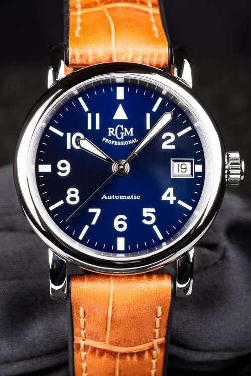 RGM Model 207 blue pilot watch