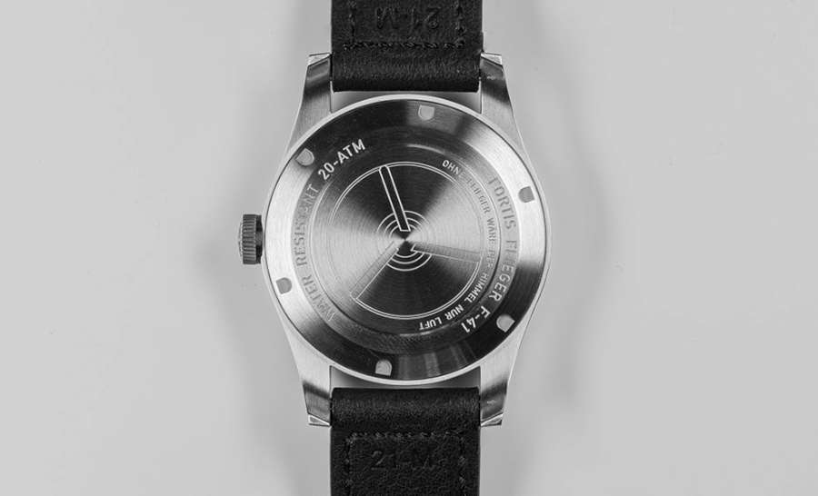 Fortis Flieger F-41 Automatic caseback