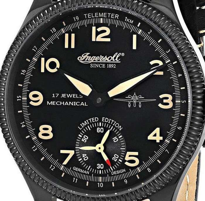Ingersoll Chinook dial detail telemeter scale