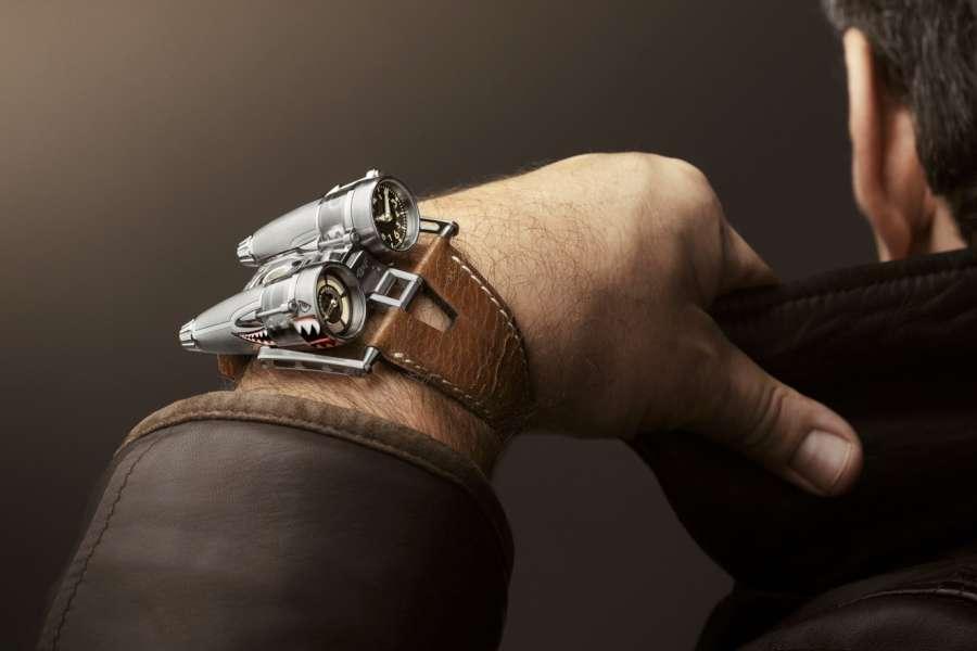 MB&F HM4 Kittyhawk on wrist