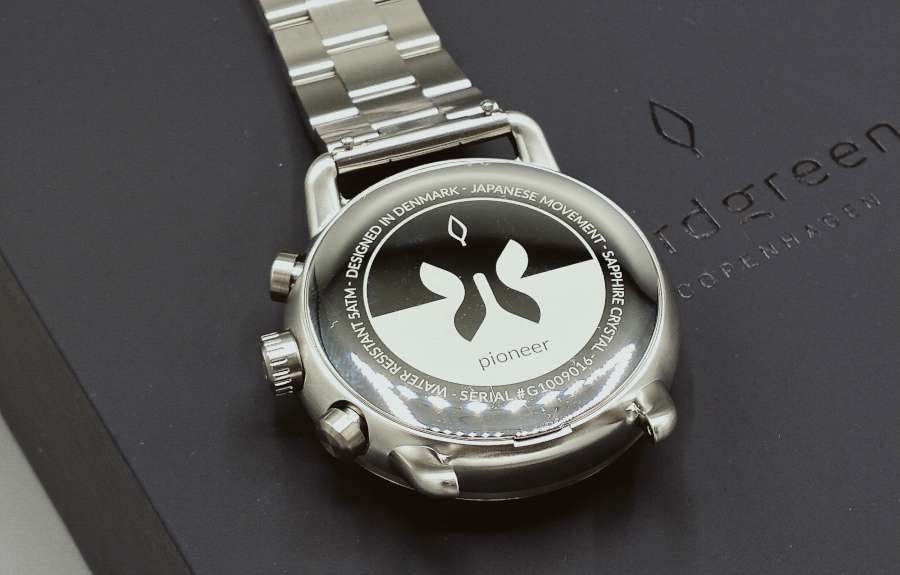 Nordgreen Pioneer chronograph caseback