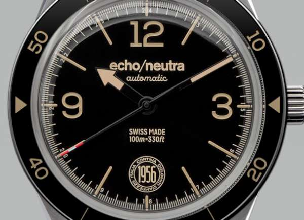 echoneutra Cortina 1956 Automatic dial detail