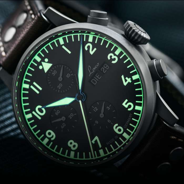 Laco Munchen pilot chronograph superluminova