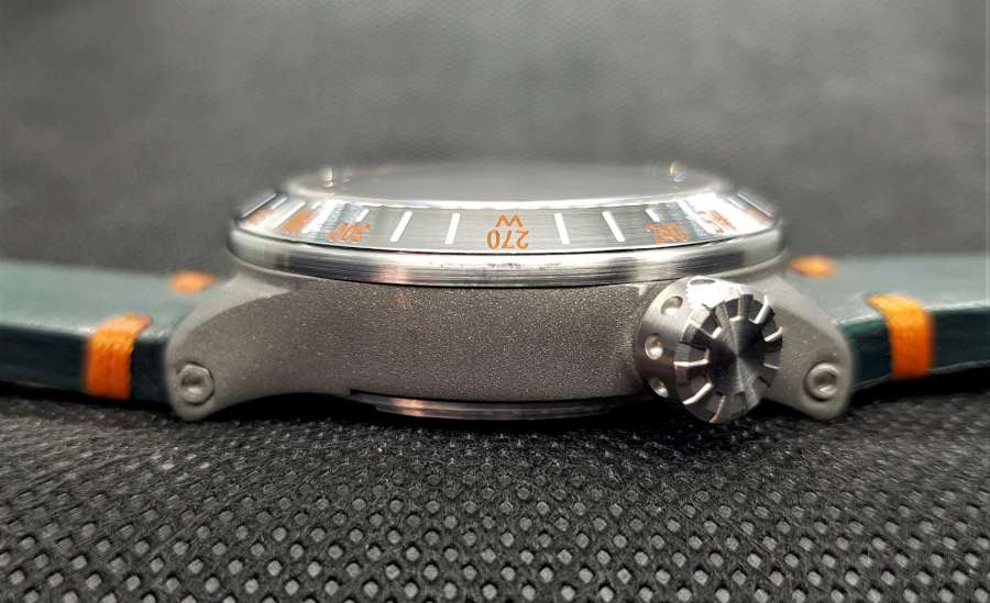 TFP Time For Planet Windrose mechanical watch crown