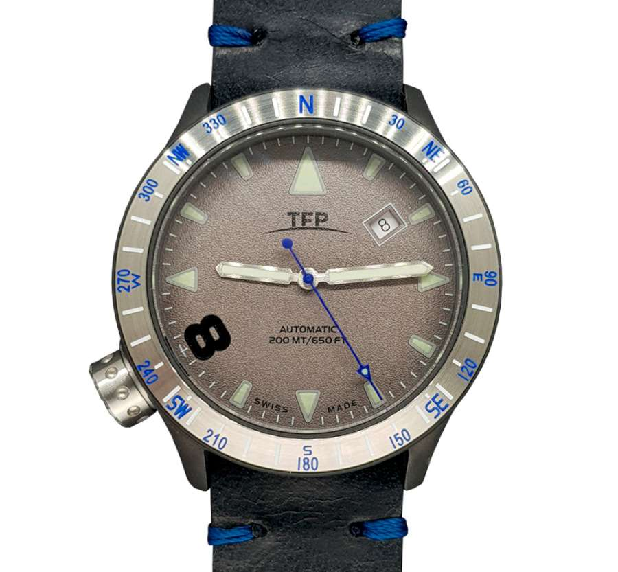 TFP Time For Planet Windrose total dark blue mechanical watch