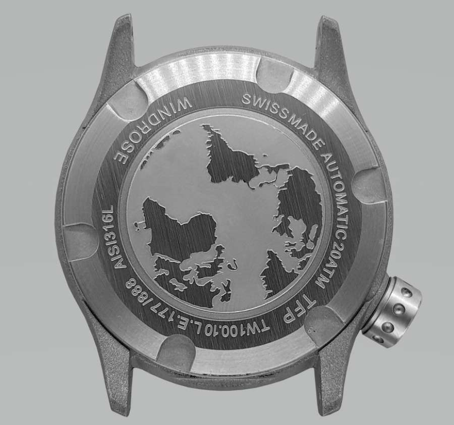 TFP Time For Planet Windrose caseback mechanical watch