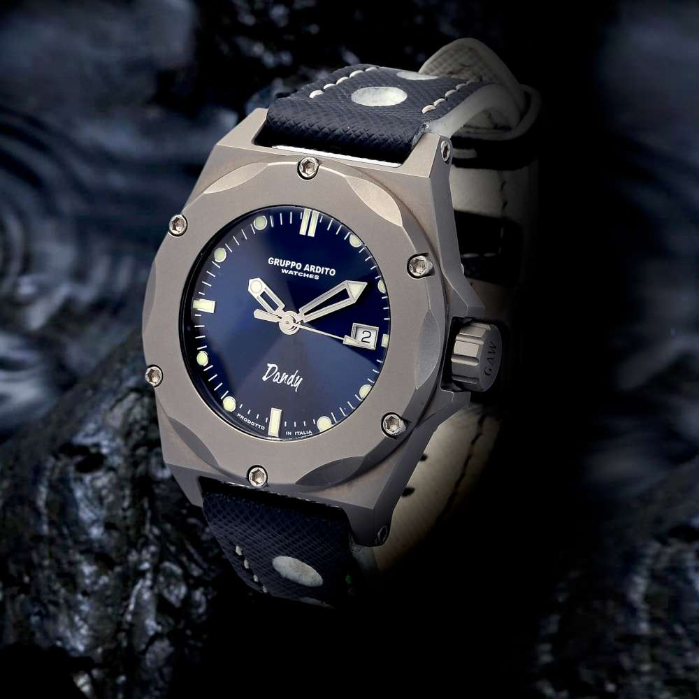 GAW Gruppo Ardito Watches Dandy professional diving watch blue dial