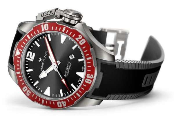 Hamilton Khaki Navy Frogman Titanium Auto h77805335 ISO 6425 diver's watch