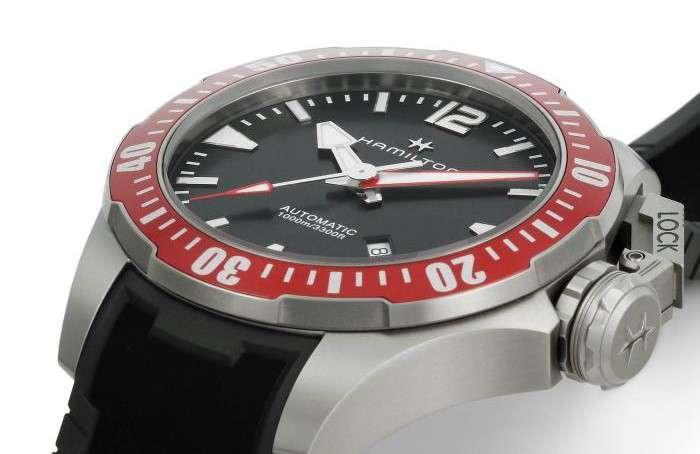 Hamilton Khaki Navy Frogman Titanium Auto h77805335 ISO 6425 compliant diver's watch