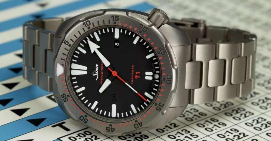 Sinn Model Diving Watch T1 ISO 6425 compliant diver's watch