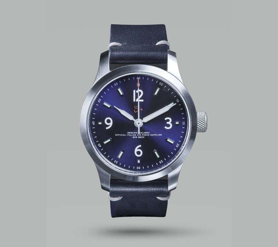 7.Orologi Calamai MKIII Blue Pilot's Watch