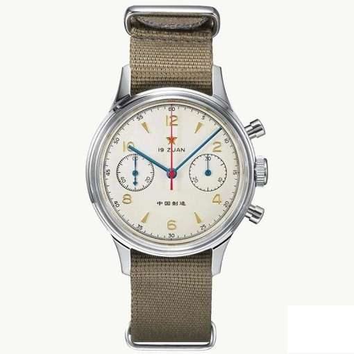 Seagull 1963 chronograph front